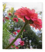 Zinnia Side View Fleece Blanket