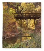 Zion Bridge Fleece Blanket