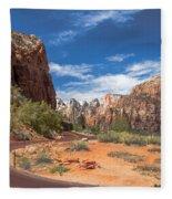 Zion Mount Carmel Highway Fleece Blanket