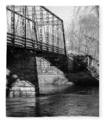 Zoar Iron Bridge Fleece Blanket