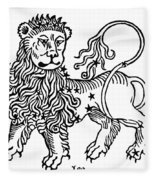 Zodiac Leo, 1482 Fleece Blanket