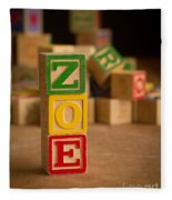 Zoe - Alphabet Blocks Fleece Blanket