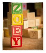 Zoey - Alphabet Blocks Fleece Blanket