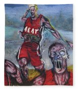 Zombie Heat Fleece Blanket
