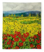 Zone Des Fleur Fleece Blanket