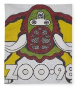 98 Kzew Radio Logo Fleece Blanket