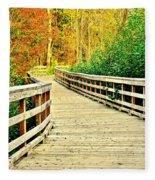 Zoom Zoom Walking Path Fleece Blanket