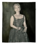 Zsazsa Gabor In The 1950's Fleece Blanket