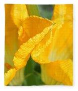 Zucchini Flowers In May Fleece Blanket