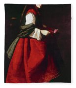 Zurbur�n Saint Casilda Fleece Blanket