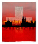 Zurich City Fleece Blanket