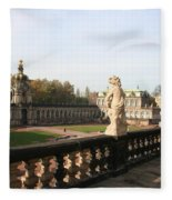 Zwinger Courtyard  Dresden  Fleece Blanket