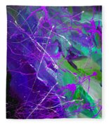 4th Symphony Of The Voyage Of The Stars Fleece Blanket