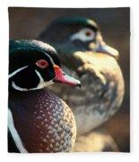 A Couple Of Wood Ducks Fleece Blanket