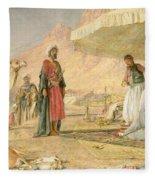 A Frank Encampment In The Desert Of Mount Sinai Fleece Blanket
