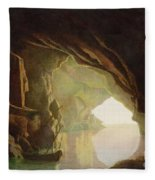 A Grotto In The Gulf Of Salerno - Sunset Fleece Blanket