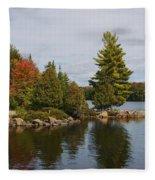 Algonquin - Canoe Lake Fleece Blanket
