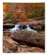 Autumn Leaves At The Mill Fleece Blanket