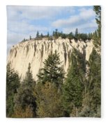 Canadian Rocky Mountain Hoodoos Bc Fleece Blanket