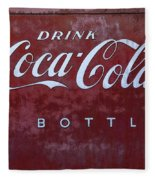 Coca Cola Memorbelia Fleece Blanket