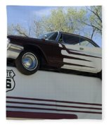 Route 66 De Soto  Fleece Blanket