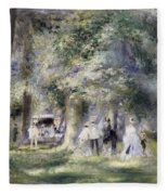 In The Park At Saint-cloud Fleece Blanket