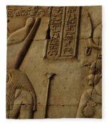 Karnak Egypt Hieroglyphics Fleece Blanket