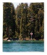 Lake Tahoe Sugar Pine Point Light Fleece Blanket