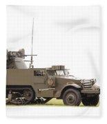 M16 Halftrack Fleece Blanket