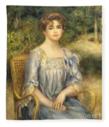 Madame Gaston Bernheim De Villers  Fleece Blanket