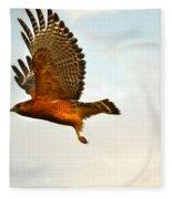 Majestic Red Shoulder Hawk Fleece Blanket