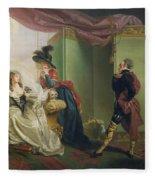 Malvolio Before Olivia - From 'twelfth Night'  Fleece Blanket