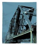 Mississippi River Rr Bridge At Memphis Fleece Blanket