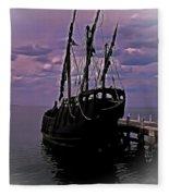 Notorious The Pirate Ship 5 Fleece Blanket