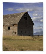 Old Big Sky Barn Fleece Blanket