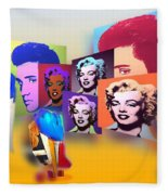 Pop Art Pop Up Fleece Blanket