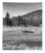 Prairie In South Lake Tahoe Fleece Blanket