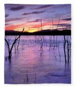Purple Lake  Fleece Blanket