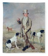 Richard Prince With Damon - The Late Colonel Mellish's Pointer Fleece Blanket