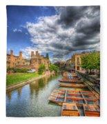 River Cam - Cambridge Fleece Blanket