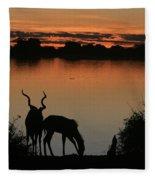 South African Sunset Fleece Blanket