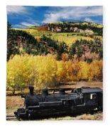 Train At Chama Fleece Blanket