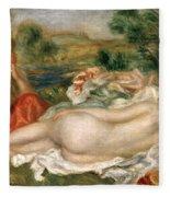 Two Bathers Fleece Blanket