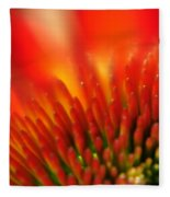 0001 Echinacea Pow Wow Sunrise Fleece Blanket