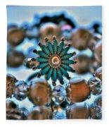 0001 Turquoise And Pearls Fleece Blanket