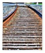 0002 Train Tracks Fleece Blanket