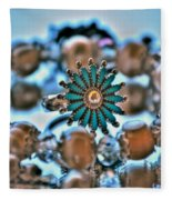 0002 Turquoise And Pearls Fleece Blanket