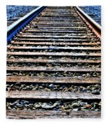 0004 Train Tracks  Fleece Blanket
