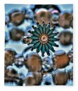 0004 Turquoise And Pearls Fleece Blanket