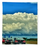 001 Grand Island Bridge Series  Fleece Blanket